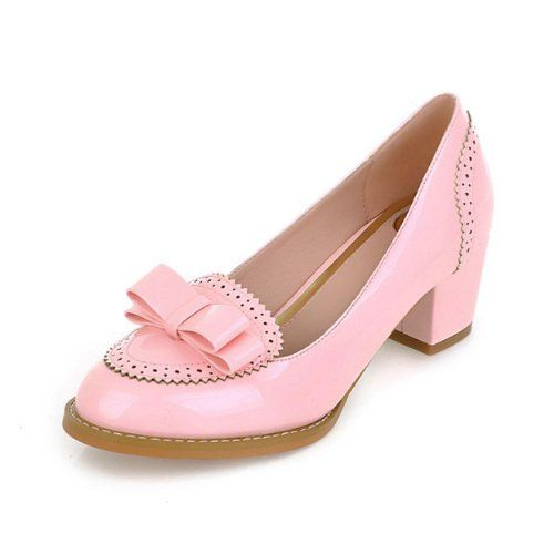 Honeystore Women's Leatherette Chunky Heel Pump, Pink, 4 D(M) US Honeystore  Online Shopping click on Amazon here http://www.amazon.com/dp/B00J03F5ZI/ref=cm_sw_r_pi_dp_EY6Otb1Q1MCH6XF8