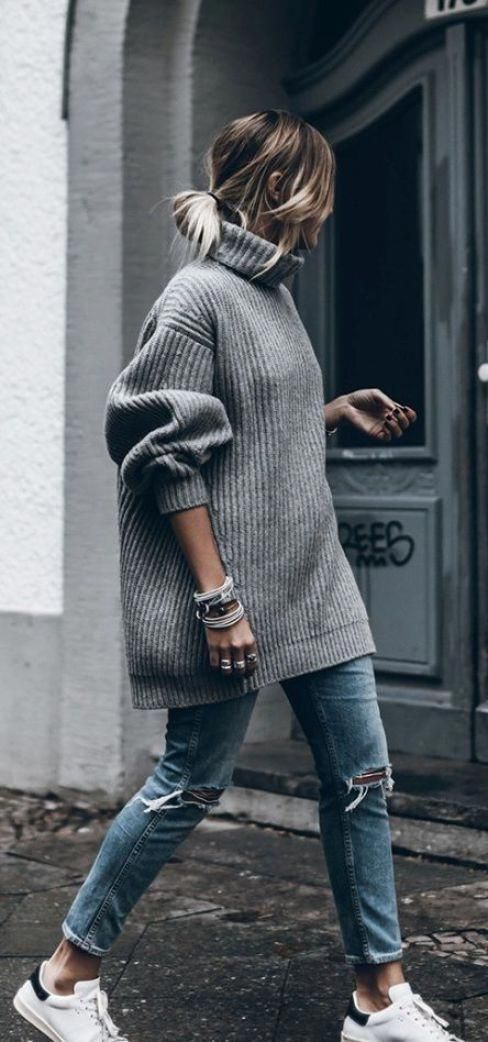 Oversized sweaters are great for back to school! #InterestingThings