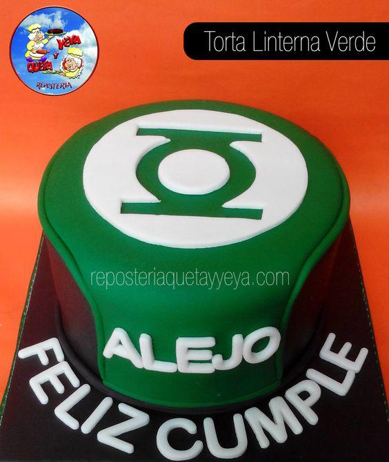 Torta Linterna Verde -  Green Lantern Cake
