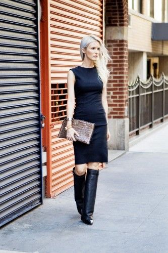 I might modify the top my black work dress and take the shoulders out a bit: Womens Fashion, Fashion My Style, Fashionweek Favorite, Fashion Week, Street Style, Nyfw Refinery29, Fashion Fashion Week
