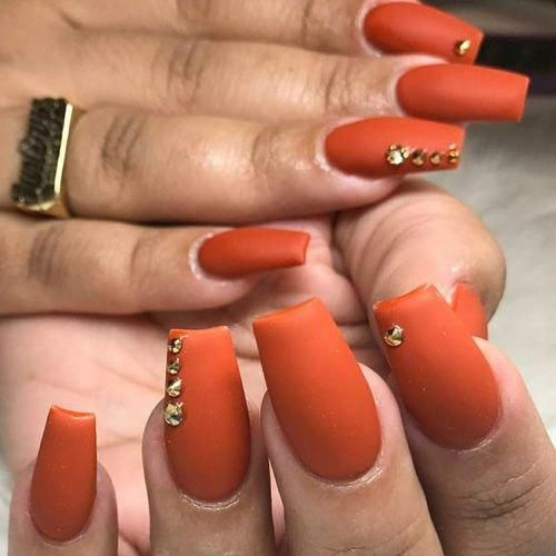 50 Best Fall Acrylic Nails For 2018 Favhq Com Acrylicnailsforsummer In 2020 Gorgeous Nails Orange Nails Matte Nails Design