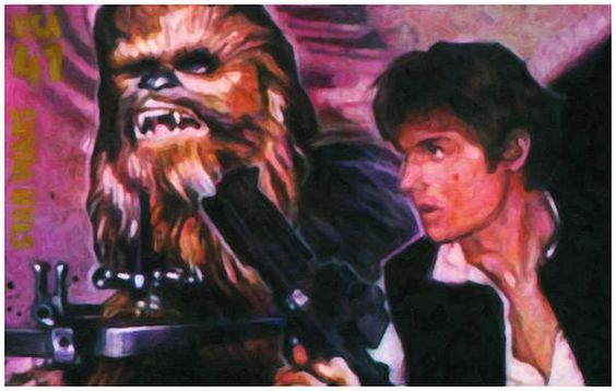 I uploaded new artwork to fineartamerica.com! - 'Han Solo And Chewbacca' - http://fineartamerica.com/featured/han-solo-and-chewbacca-lanjee-chee.html via @fineartamerica