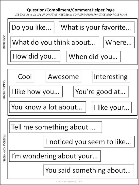 """""""All About Me"""" signs to help with reciprocal peer conversation in children with ASD 