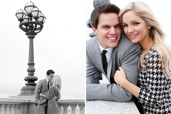 On of my favorite engagement photo's ever - I want family pictures as classy & timeless please.