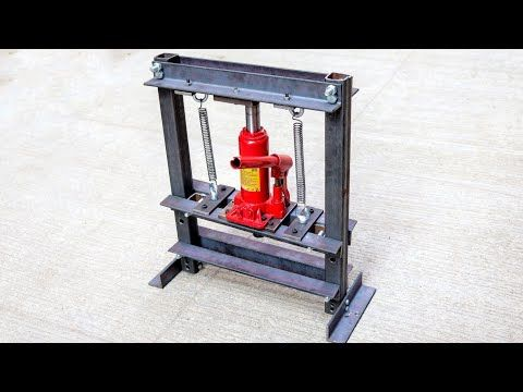 How To Make Hydraulic Press Machine Mini Hydraulic Machine Without Welding Youtube Hydraulic Press Machine Welding Press Machine