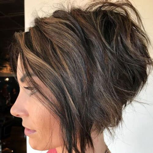12++ Stacked funky inverted bob inspirations