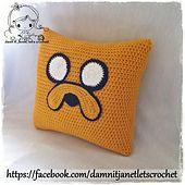 PDF Crochet Pattern - Jake the Dog Pillow from Adventure Time. $2.00, via Ravelry.