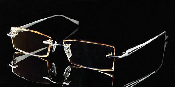 Rimless Glasses Edge Polish : Eyeglass frames for men, Glass frames for men and ...