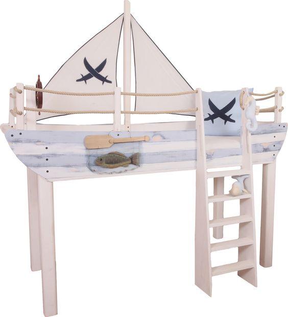als kleiner Junge nicht in einem Piratenbett schlafen? #kinderzimmer ...