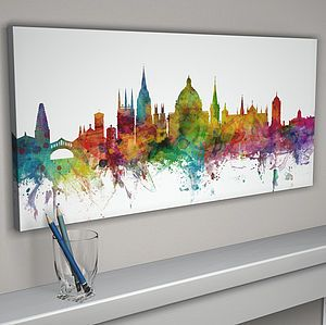 Oxford England Skyline Cityscape - paintings  canvases