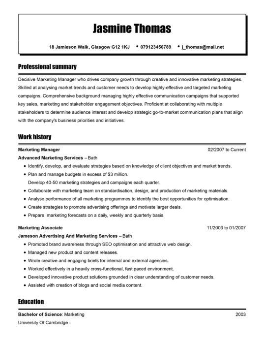Create A Cv Personal Statement That Help You Win The Job Livecareer Example Medical Resume Cambridge Additional