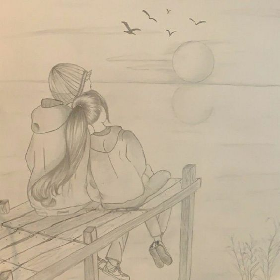 Couple Happy Moment Drawing Drawing Ideas For Beginners Art Drawings Sketches Simple Easy Love Drawings Cool Art Drawings