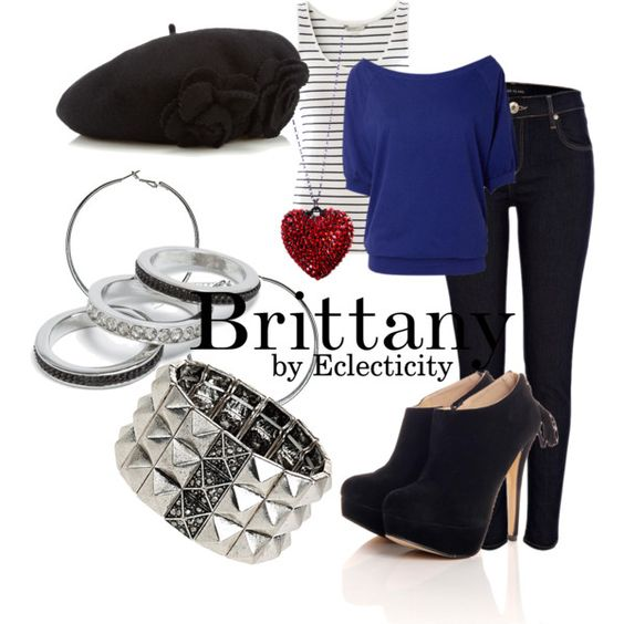 Brittany by whisperwings44 on Polyvore featuring mode, H&M, River Island, Wallis, GUESS, Accessorize, brittany, glee club, brittany pierce and glee