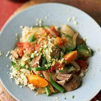 Mediterranean Beef Ragout made in the crock pot. Healthy and low carb