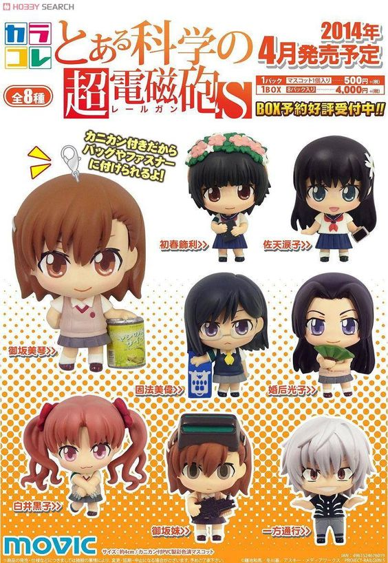 Karakore! To aru kagaku no Railgun S 8 box set Precio en Todoke!: 4320 yenes PD: Son cajas sorpresas con lo cual no se asegura que no haya alguna repetida. RESERVA EL TUYO YA!: http://todoke.jp.net/order.html