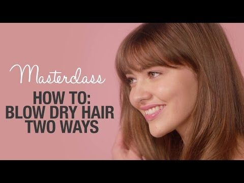 How To: Blow Dry Hair 2 Ways With Kenneth Stoddart - YouTube