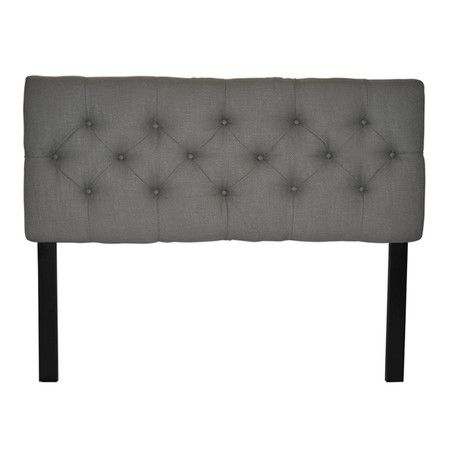 Anchor your bedroom in chic sophistication with this stylish tufted headboard.  Product: HeadboardConstruction Material: ...