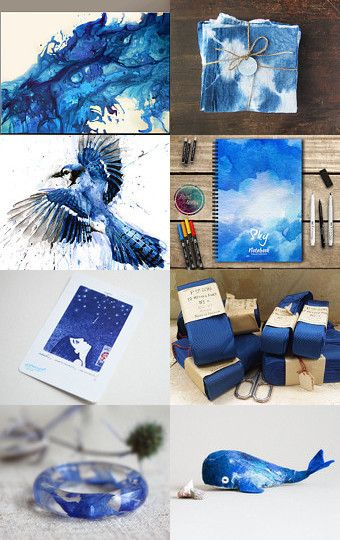 Splash of brilliant blue by Tamarah Staschiak on Etsy--Pinned with TreasuryPin.com