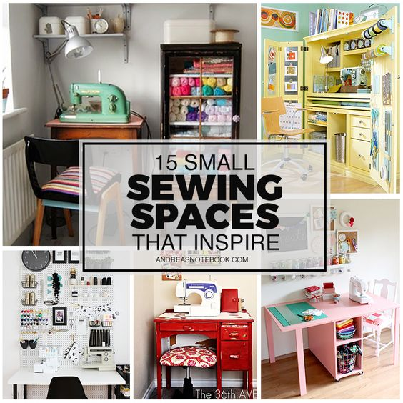 1000 ideas about small sewing rooms on pinterest sewing rooms sewing room organization and - Craft room ideas for small spaces concept ...