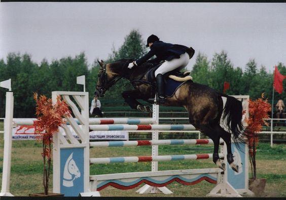 Stallion Buian(Beduin-Iagti) Gelishikli line. Ridden by O.Borisenko. Breed by T.Pontecorvo.