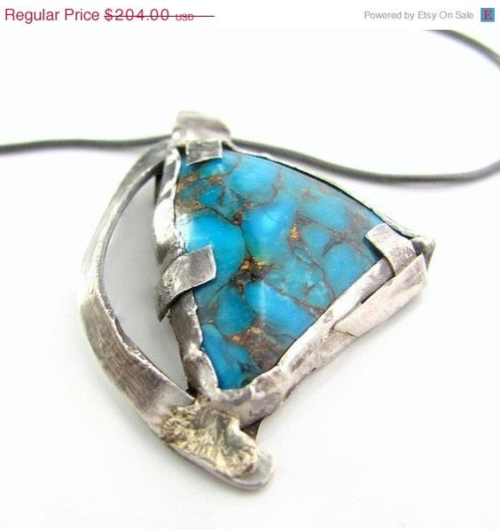 20 off sale Genuine turquoise necklace by littlebugjewelry on Etsy,