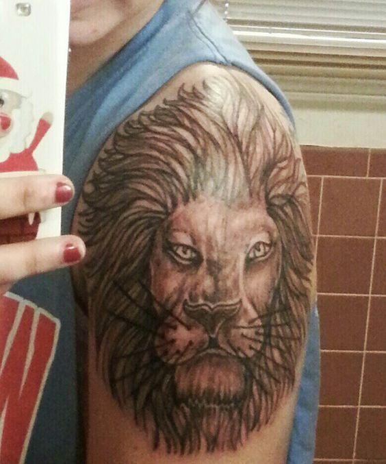 Lion tattoo- Newest addition(: