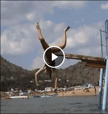 O salto mais desageitado que já vi