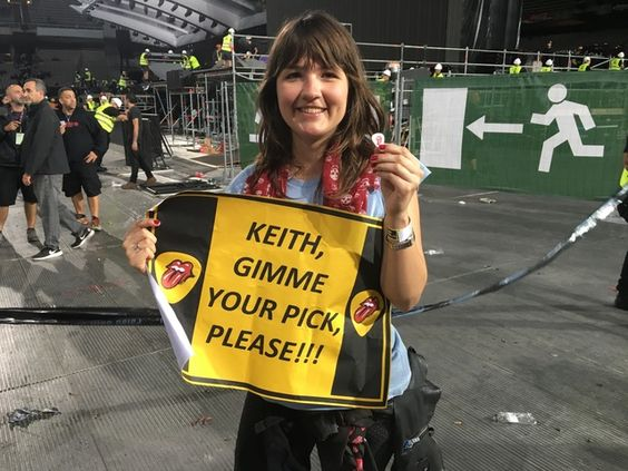 Rolling Stones | Got Keith's pick in Barcelona!!! So happy!!!