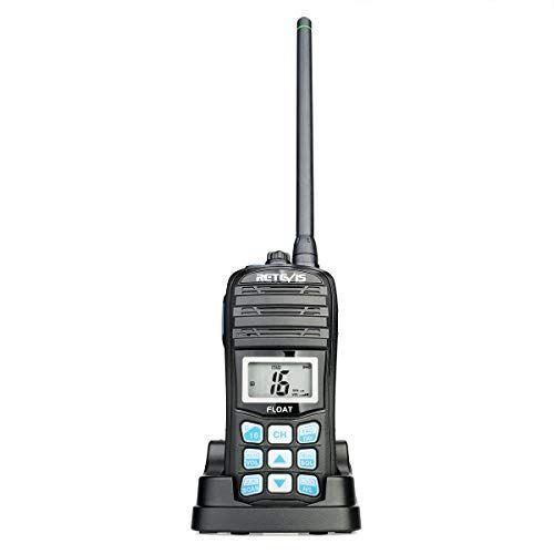 Retevis Rt55 Marine Radio Floating Long Range Waterproof Handheld Vhf Radio With Noaa Weather Alert And Vibration Water Draining Function 1 Pack In 2020 Marine Radios Weather Alerts Noaa