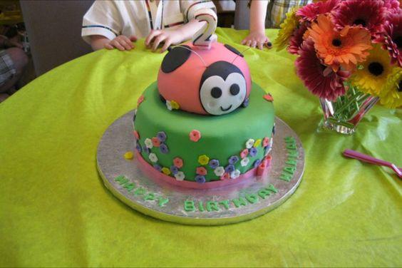 lady bug girls cake
