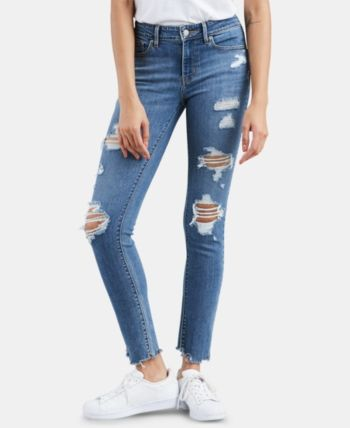 Levi's 711 Ripped Skinny Jeans Blue 24R | Best jeans for