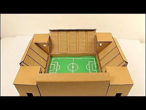Como Hacer Un Estadio De Futbol De Carton Cardboard Soccer