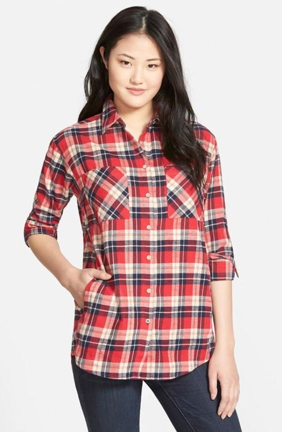 Cool 48 Charming Flanel Outfit Ideas For Women