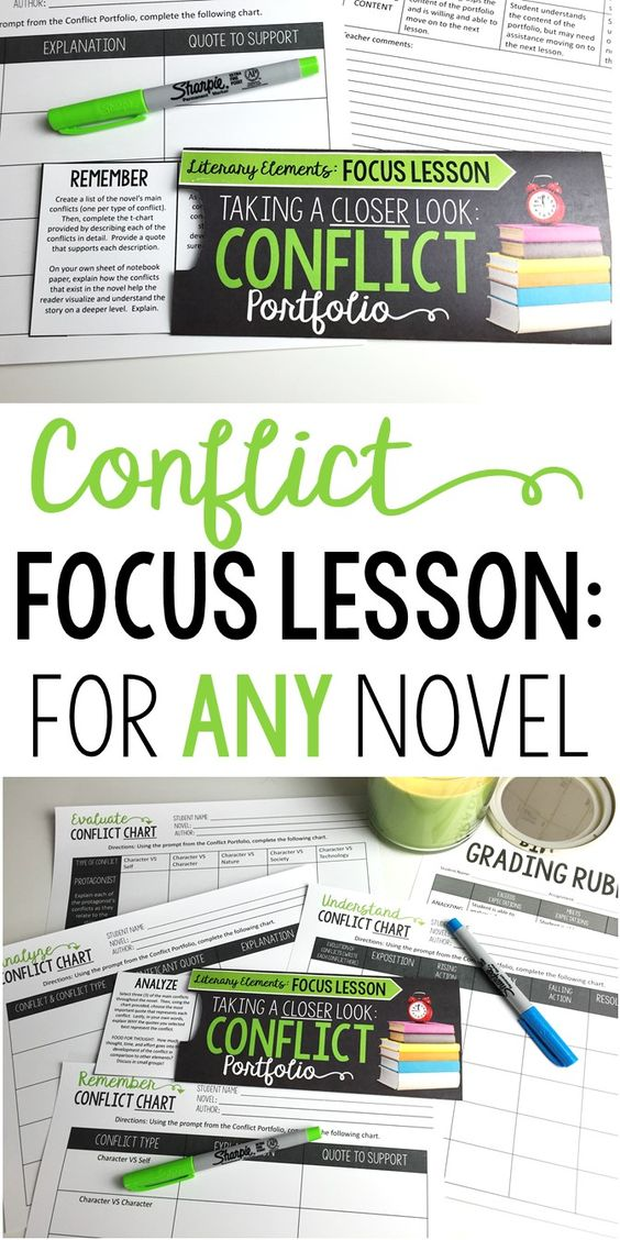 Focus Lesson | Conflict | Perfect for any novel or short story | Grade 6-12
