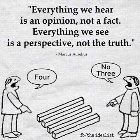 Perspective changes everything! Truth may very well be relative in many instances... #truth #perspectivechangeseverything #perspective