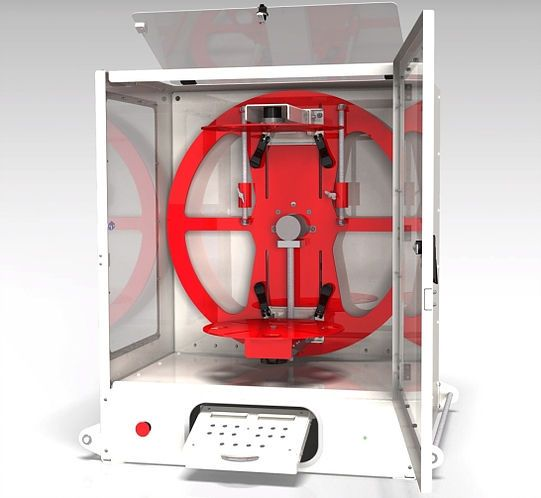 EVU2 rotocasting machine, designed & built in the UK by Evolution  Rotacasters | Casting machine, It cast, Small