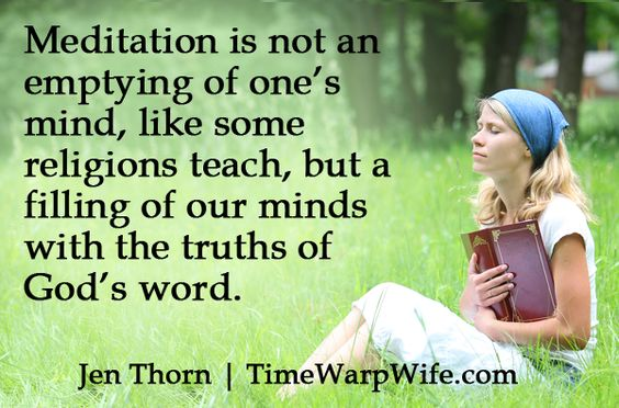 The Forgotten Discipline Of Meditation - Time-Warp Wife   Time-Warp Wife