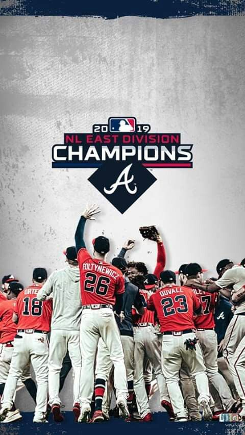 Pin By Mayra Colon On Braves Clinch Nl East In 2019 Atlanta Braves Wallpaper Atlanta Braves Atlanta Braves Baseball