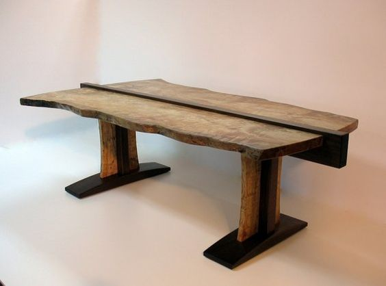 Custom Live Edge Coffee Table by Mike Bartell / Woodcraftsman | CustomMade.com