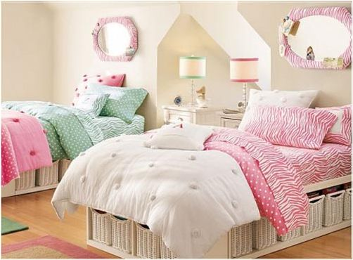 key interiors by shinay decorating girls room with two twin beds platforms with storage girlsu0027 bedroom pinterest decorating girls rooms two twin
