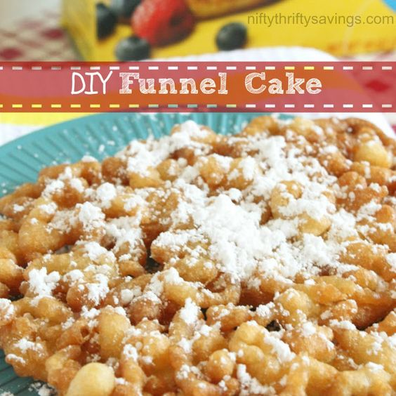 Funnel cakes recipe, Funnel cakes and Bisquick on Pinterest