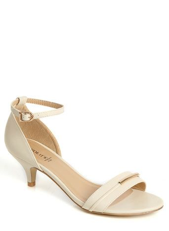 Ivory Tube Trim Kitten Heel Sandal | Shoes | Pinterest | Kitten