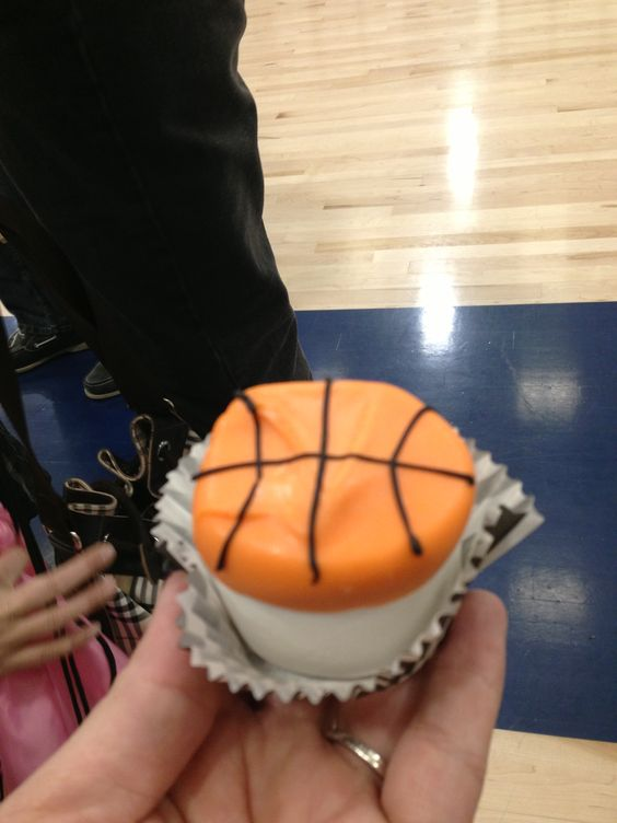 Made these Marshmallow Basketballs for my sons snack.