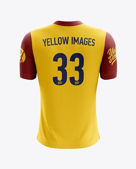 Download Men S Soccer V Neck Jersey Mockup Back View In Apparel Mockups On Yellow Images Object Mockups Clothing Mockup Shirt Mockup Design Mockup Free