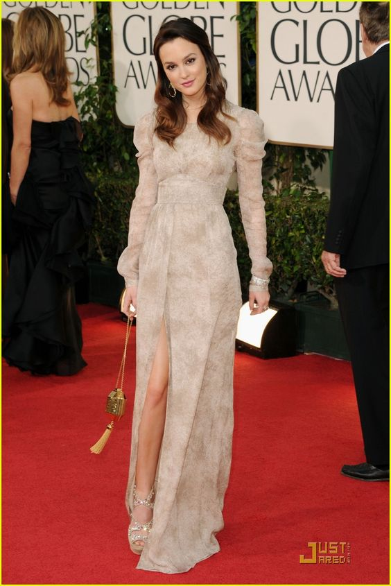 Second favorite. Dress by Burberry Prorsum, and Leighton wears it like a boss.