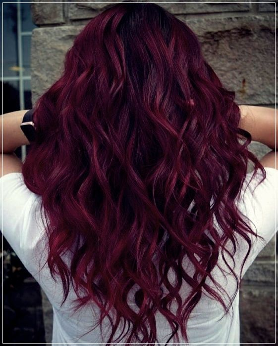 The Red Dye Will Be A Trend In 2020 And We Want To Use It Short And Curly Haircuts In 2020 Wine Red Hair Wine Hair Wine Red Hair Color