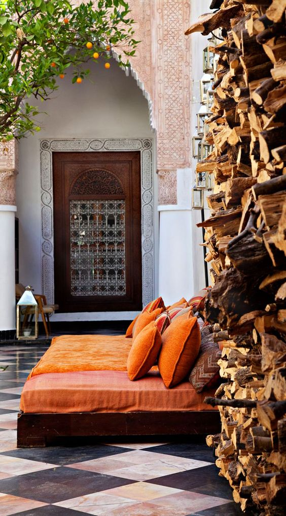El Fenn in Marrakech, Morocco: 20-room riad filled with modern British art and ancient Moroccan crafts.