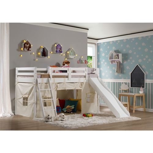 A Cama Infantil Prime Com Escorregador Toboga E Tenda E Perfeita
