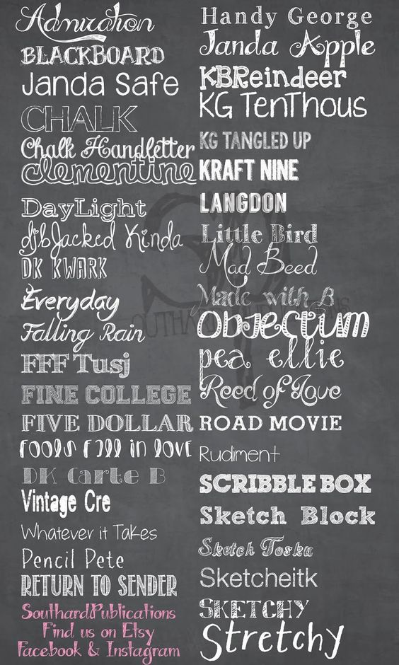 My New Blog! SouthardBelle Free chalkboard fonts!