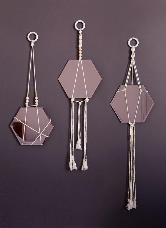 DIY miroirs suspendus by Mamie boude